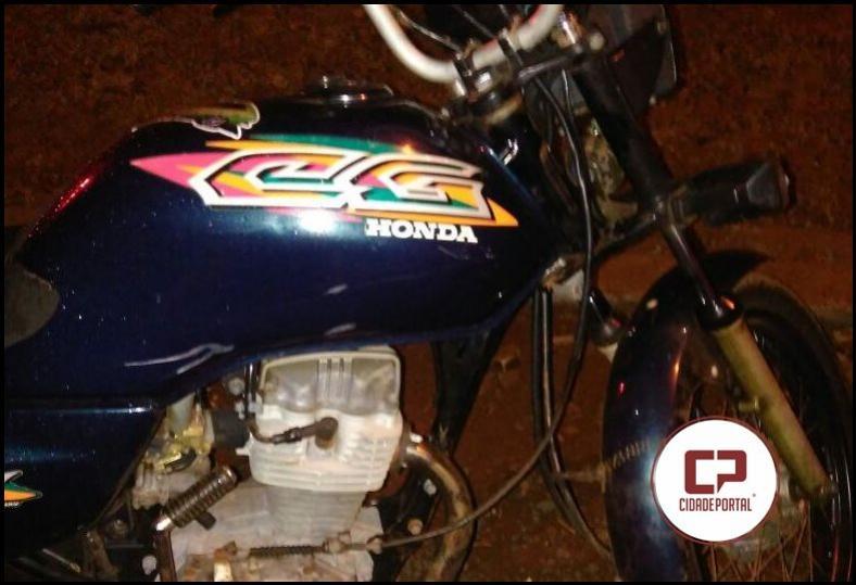 Polícia Militar de Campina da Lagoa recupera motocicleta roubada em Nova Cantu