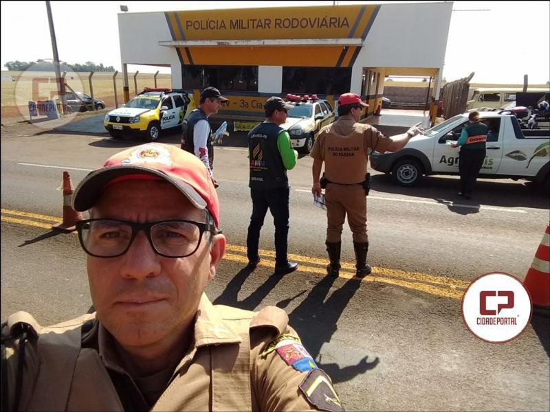 Posto Policial Rodoviário de Ubiratã realizou a Operação Semana Nacional de Trânsito