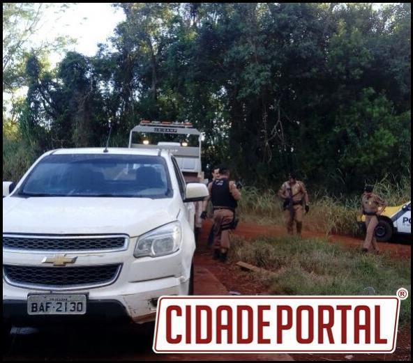 Policiais da Patrulha Rural prendem indivíduo suspeito a roubo de caminhonete próximo ao Distrito de Yolanda