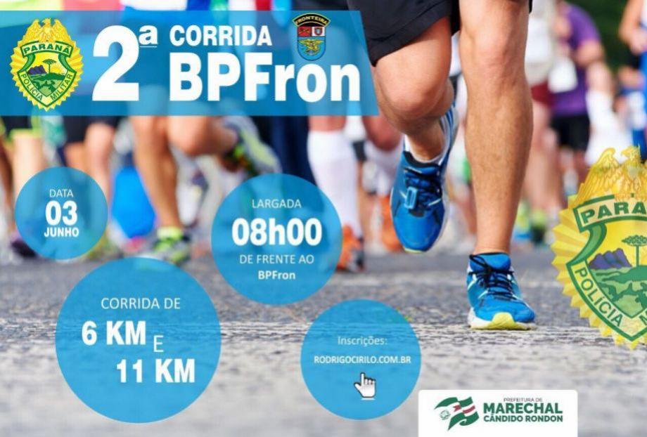 Segunda corrida do Batalhão de Polícia de Fronteira em Marechal Cândido Rondon!!!