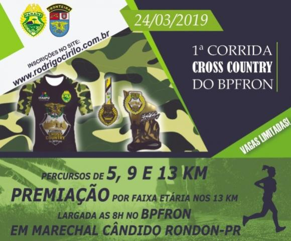 Primeira corrida Cross Country do BPFron!