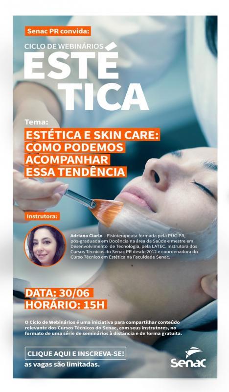 Webinário- Estética e SkinCare, como podemos acompanhar essa tendência