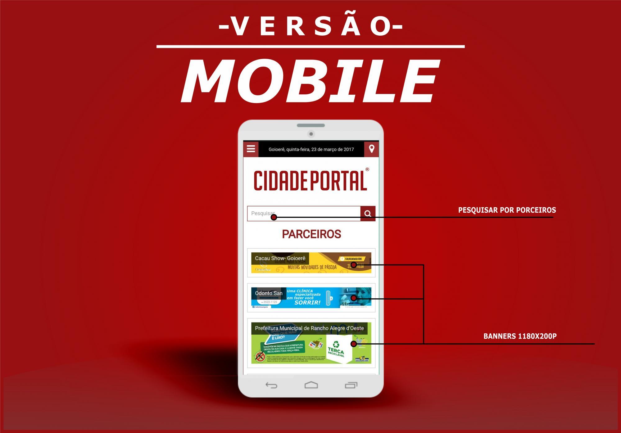 Telas da Plataforma para Mobile