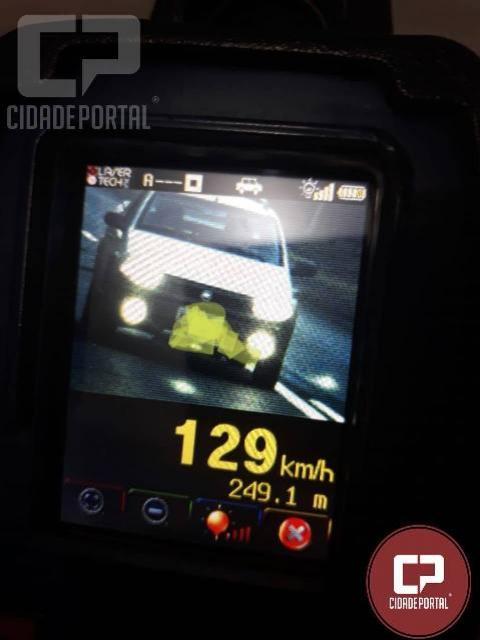 PRE autua 40 motoristas em operação radar no município de Santa Helena