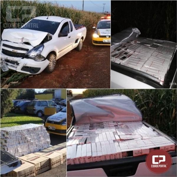 PRE de Cascavel apreende veículo carregado com contrabando de cigarros em Ouro Verde do Oeste