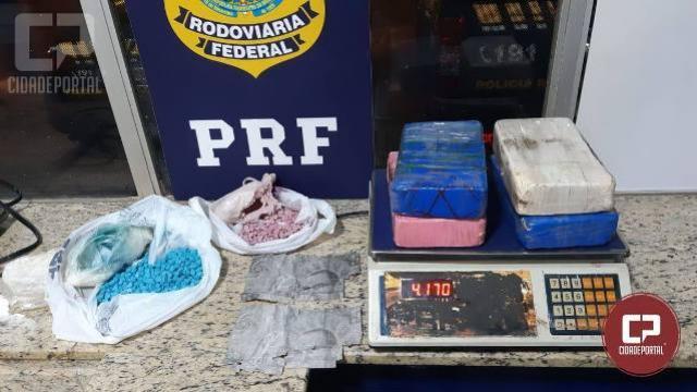 PRF prende homem transportando cocaína e ecstasy no estepe do veículo