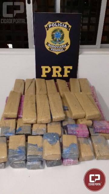 Polícia Rodoviária Federal apreende 44,7 Kg de maconha na BR-277 em Catanduvas
