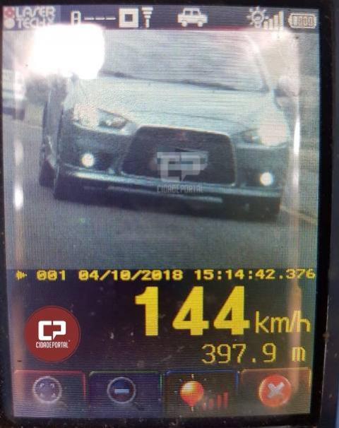 Motorista é flagrado à 144km/h durante fiscalização da PRE em Juvinópolis
