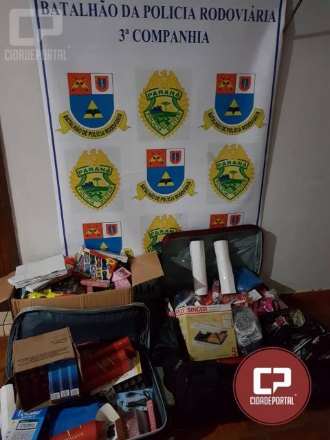 Polícia Rodoviária de Assis Chateaubriand apreende produtos de contrabando durante fiscalização