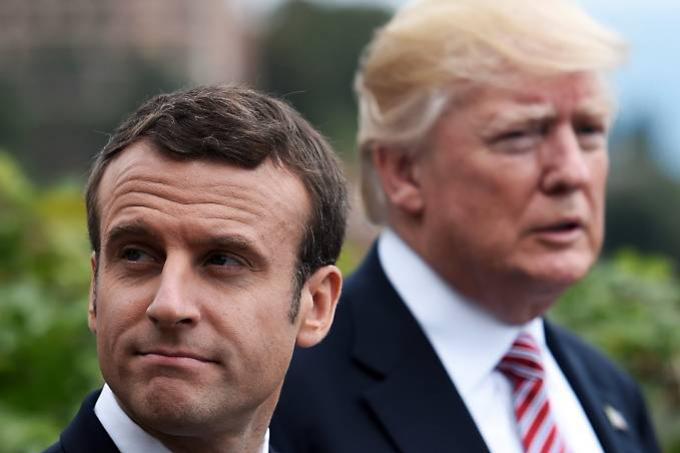 Macron e outros líderes da UE criticam tarifas dos EUA