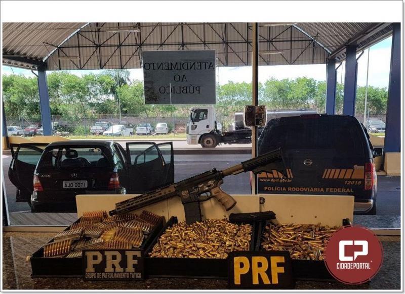 Polícia Rodoviária Federal apreende fuzil e 4.250 munições em Guaíra no Paraná