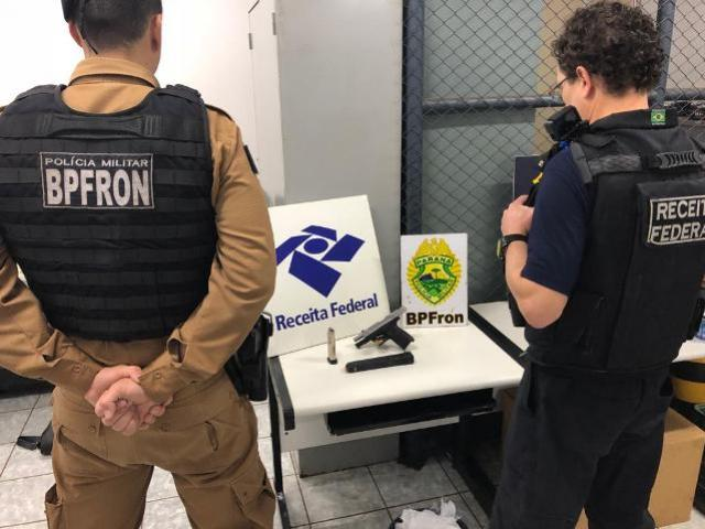 BPFron e Receita Federal apreendem arma, carregadores e munições durante Operação Fronteira Integrada
