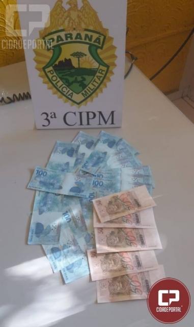 Polícia Militar prende indivíduos que passavam notas falsas na cidade de Porto Rico