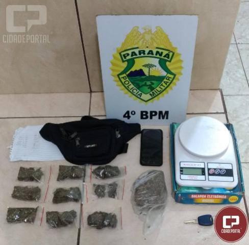 Polícia Militar  encontra droga em abordagem a veículo no município de Maringá