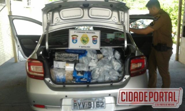 Contrabando é interceptado e apreendido por policiais do 7º BPM em Rondon