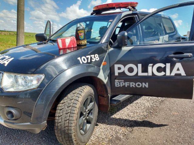 Polícia Militar através do BPFron cumpre mandado de prisão e apreende mais de 1 kg de cocaína em Iporã