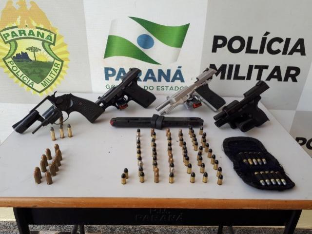 Ação Militar conjunta prende assaltantes de banco e apreende armas de fogo