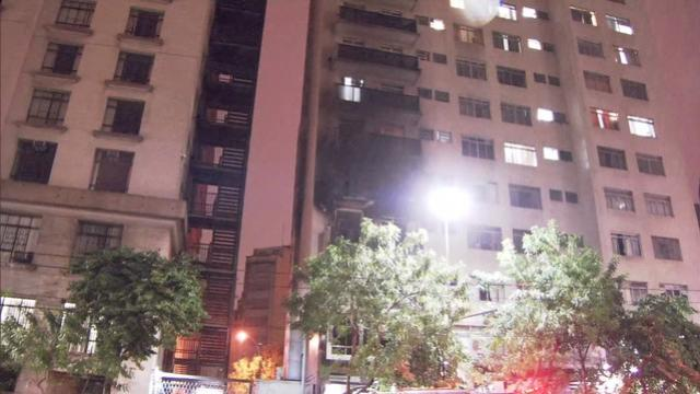 Incêndio destrói apartamento no Centro de São Paulo