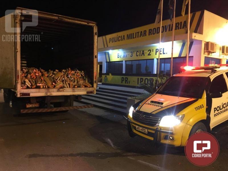 Caminhão com mais de meia tonelada de maconha foi apreendido pela Polícia Rodoviária Estadual de Iporã