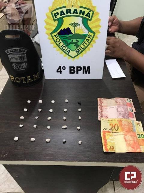 ROTAM detém homem de 51 anos por tráfico de drogas em Maringá