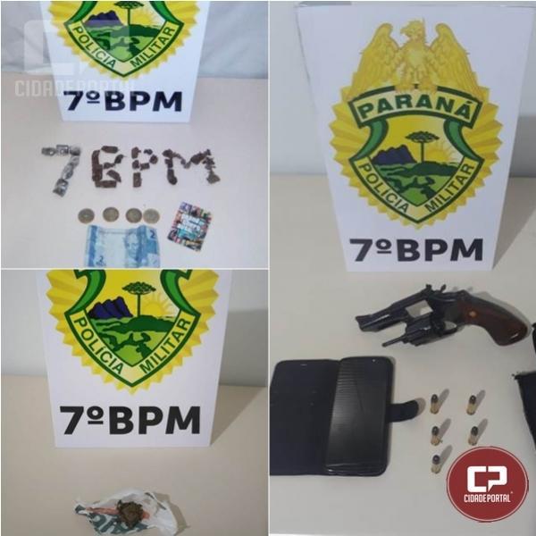 PM de Cruzeiro do Oeste apreende três adolescentes por ato infracional, e prende homem por posse ilegal de arma