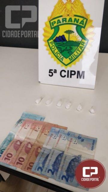 Equipe ROTAM prende homem de 40 anos por tráfico de drogas em Cianorte