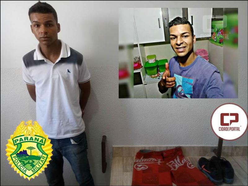 Acusado de assalto do Posto América foi preso pela Policia Militar do serviço reservado e RPA de Goioerê