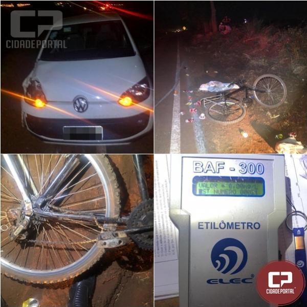 Ciclista de 27 anos perde a vida em acidente na PR-180 em Cafelândia