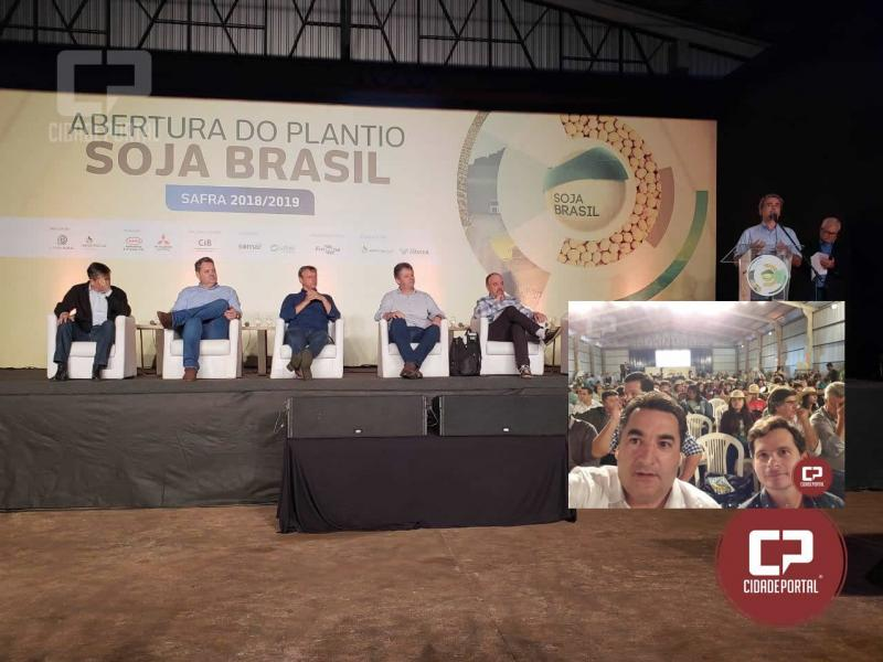 Aprosoja Paraná presente em Terenos-MS, na Abertura Nacional do Plantio da Soja