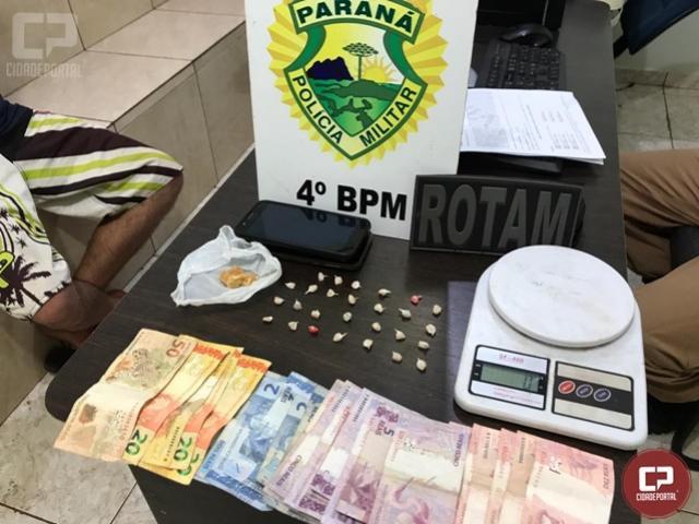 Polícia Militar prende duas pessoas por tráfico de drogas em Maringá