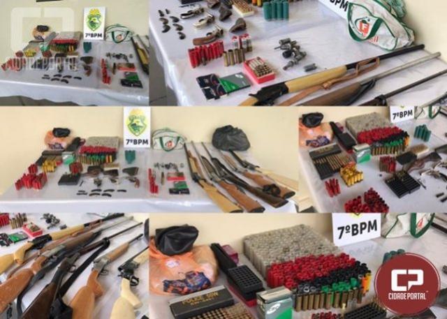 Polícia Militar realiza operação para prender PM aposentado e armamentos em Tapejara