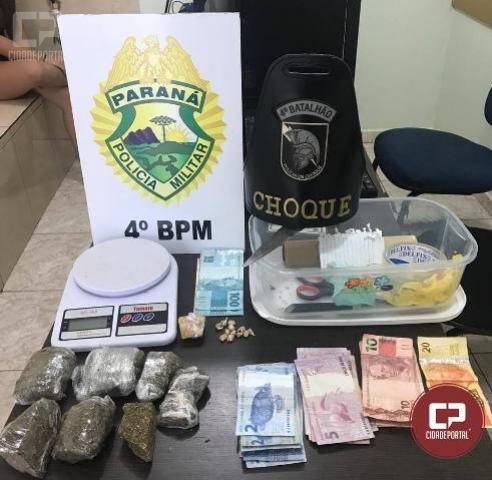 Polícia militar apreende adolescente por tráfico em Maringá