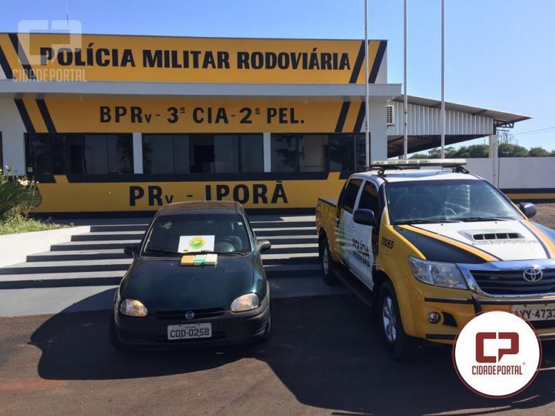 Posto Policial Rodoviário Estadual de Iporã apreende 3 kg de Cocaína e recaptura foragido