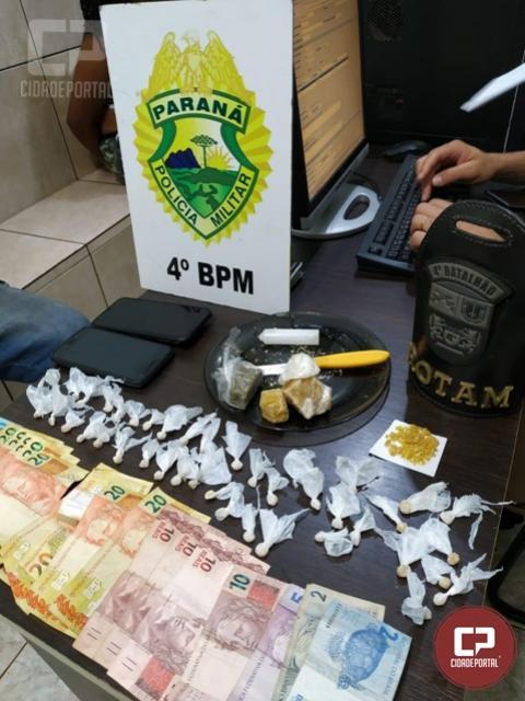 Polícia Militar realiza prisão por trafico de drogas em Maringá