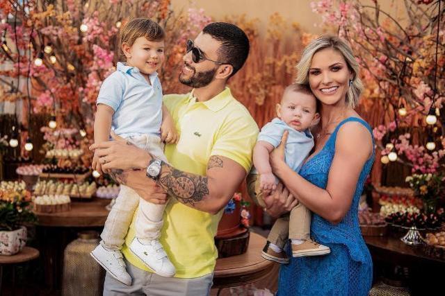 Gusttavo Lima faz linda declaração para filhos e esposa: Me completam!