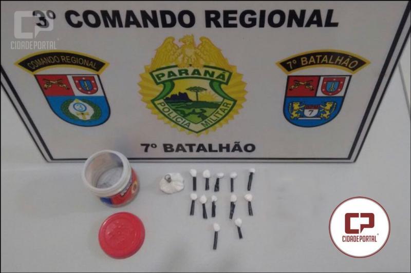 Policiais do 7º Batalhão apreendem Cocaína em Marabá, distrito de Tuneiras do Oeste