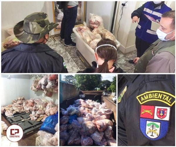 Após operação de fiscalização, 5 toneladas de carne vencida é apreendida em Moreira Sales