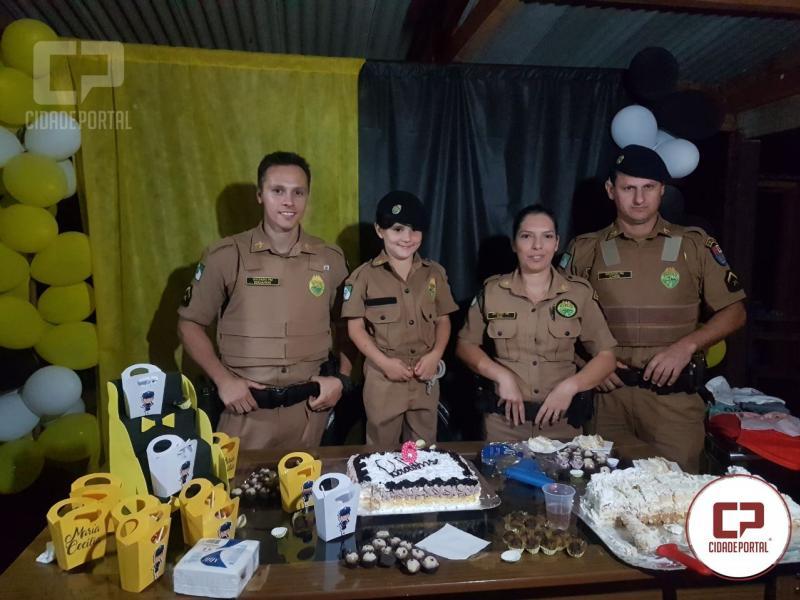 Polícia Militar de Juranda atende pedido de criança de 06 anos e comparece em seu aniversário