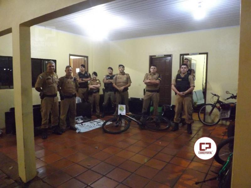 Mega operação da Polícia Militar de Ubiratã prende responsável por furtos em toda região e recupera objetos