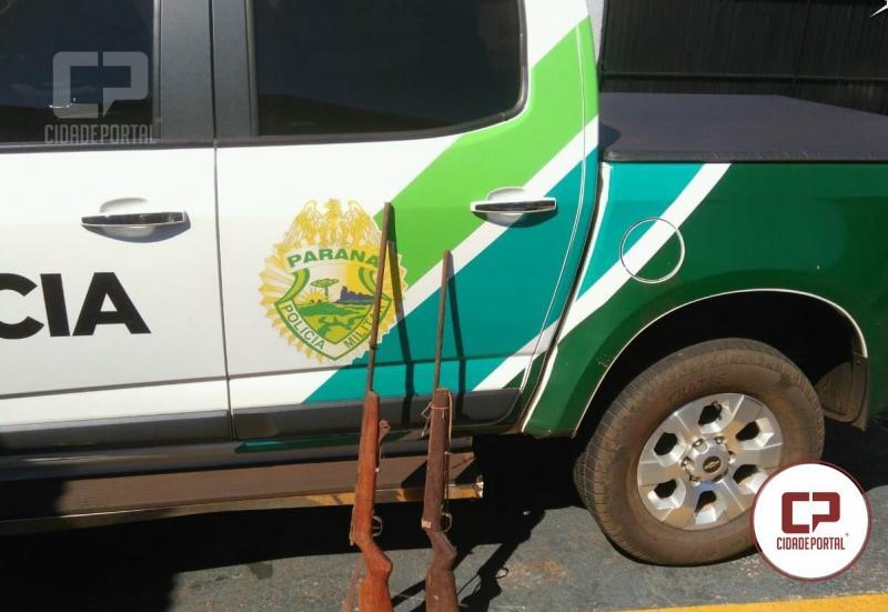 Policiais da Força Verde de Campo Mourão prende uma pessoa por posse irregular de arma de fogo em Ubiratã