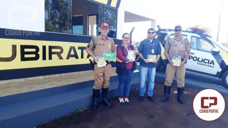Polícia Rodoviária Estadual  e 37ª Ciretran de Ubiratã realizam ações em alusão a Maio Amarelo