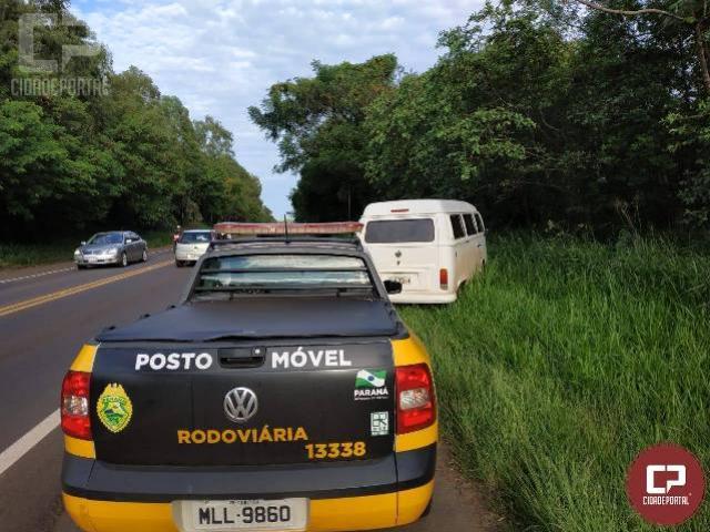 PRE recupera veículo furtado durante operação de fiscalização no município de Perobal