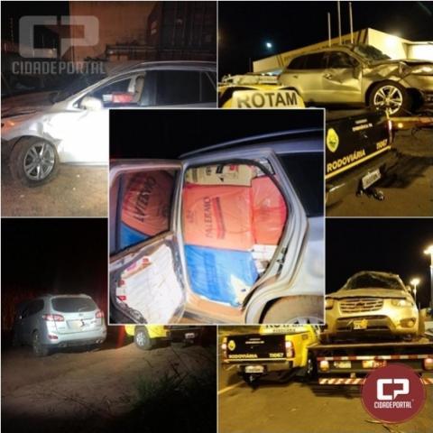 Rotam apreende veículo carregado com contrabando de cigarros em Iporã