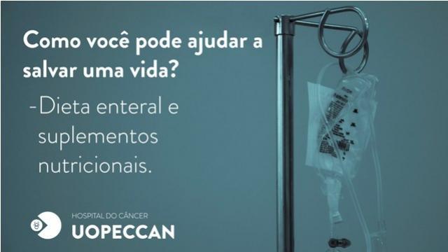 Uopeccan lança campanha de arrecadação de dieta enteral
