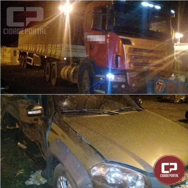 Duas pessoas ficam feridas em acidente na PR-486 na cidade de Alto Piquiri