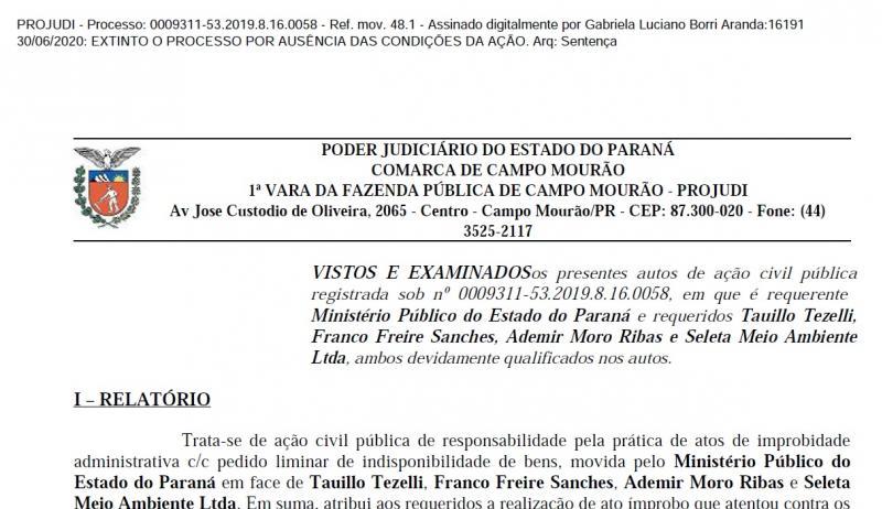 Justiça rejeita ação do MP contra prefeito, dois secretários e empresa de limpeza pública