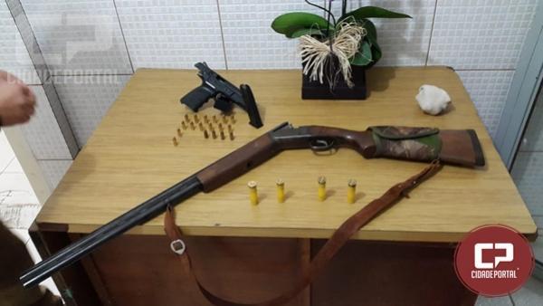 Polícia Militar prende dois homens por porte ilegal de arma de fogo em Campo Mourão
