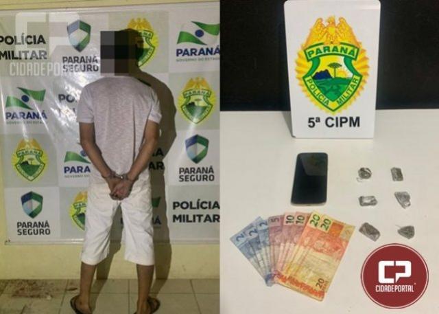 Uma pessoa foi presa por tráfico de drogas no Distrito de São Lourenço