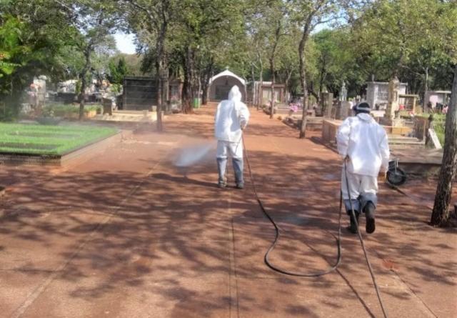 Município de Campo Mourão realiza desinfecção em mais locais para evitar a disseminação do COVID-19