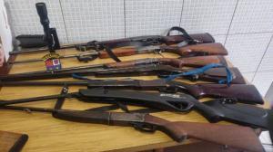 Operação Policial em Farol apreende armas, munições e animais silvestres